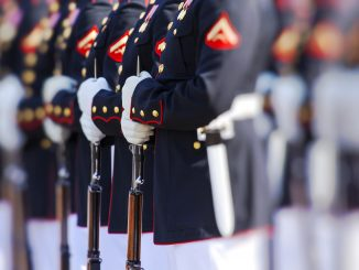 Marines in a line