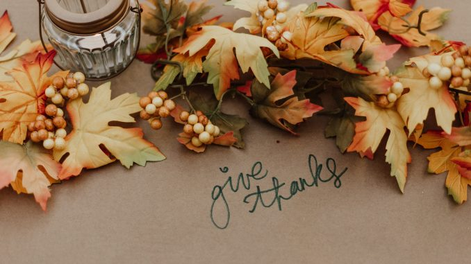 give thanks decorative leaves